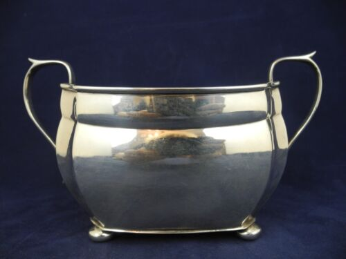 Antique Chester Sterling Silver Double Handle Vessel / Sugar Bowl