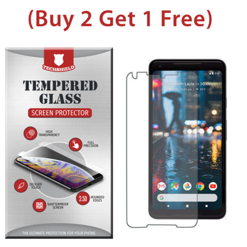 (2-Pack) Tempered Glass Film Screen Protector For Google Pixel 2 XL
