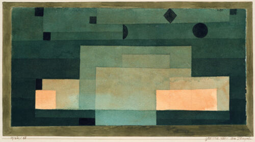 Paul Klee Reproduction: The Firmament Above the Temple - Fine Art Print