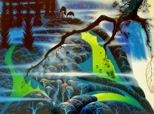 """Eyvind Earle """"Green Pastures 1992"""" Earth Day Hand signed numbered Serigraph"""