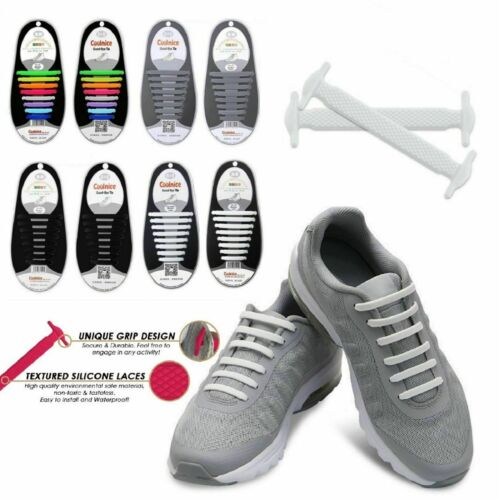 16pcs Easy No Tie Shoelaces Elastic Silicone Flat Lazy Shoe Lace Strings Adult