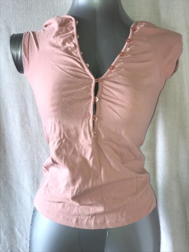 FILIPPA K, SIZE SMALL, DUSTY PINK SHORT SLEEVE T-SHIRT, 95% COTTON, PRE-LOVED