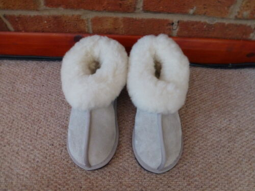 Genuine Sheepskin Slippers  Size 3 to 14     Karu Bootie Slippers