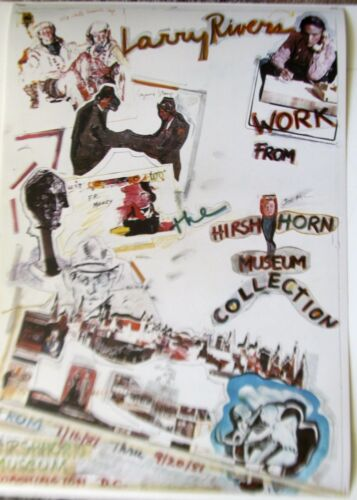 Larry Rivers HIRSHHORN MUSEUM Poster 1981-Hand Signed Numbered