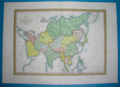 1846 ANTIQUE MAP ASIA CHINA SAUDI ARABIA EMIRATES PERSIA PHILIPPINES SIAM KOREA