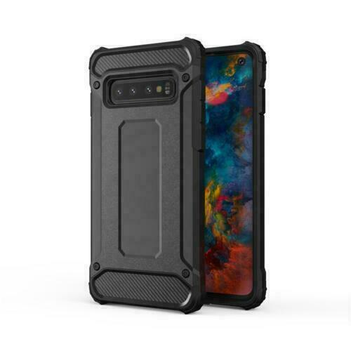Black Shockproof Armour Case For Samsung Galaxy S10 Hybrid Back Cover