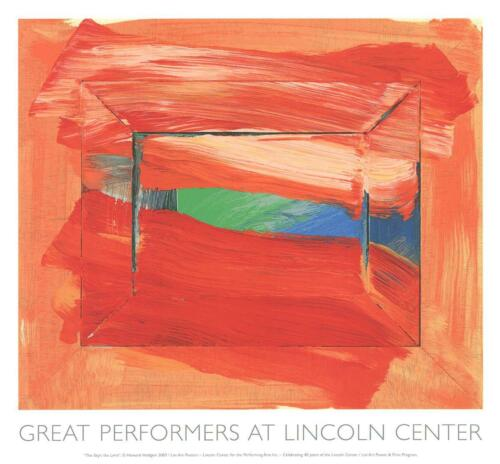 HOWARD HODGKIN 'The Sky's the Limit', 2003 Limited Edition SILKSCREEN Poster NEW