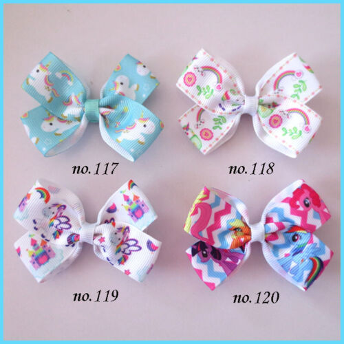 """1000 BLESSING Good Girl 2.75"""" Angel Hair Bow Clip Unicorn Accessories Wholesale"""