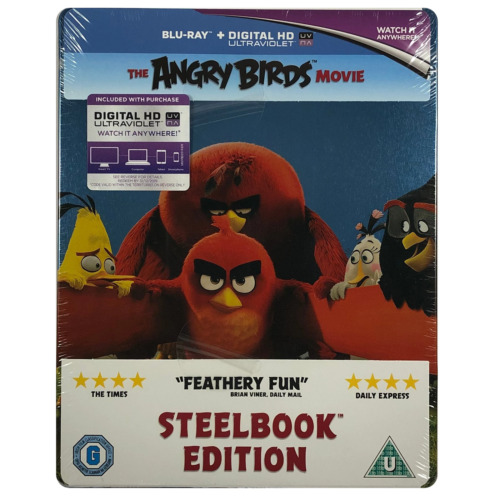 Angry Birds Steelbook - Limited Edition Blu-Ray **Region Free**