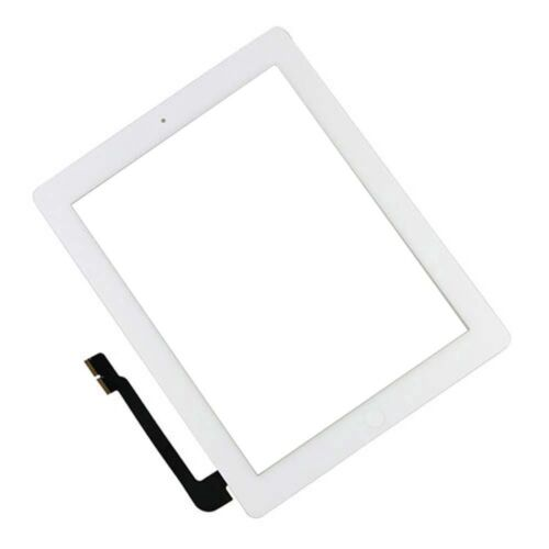 for iPad 3, 4 Digitizer White adhesive, touch screen blank home