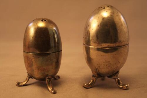 Antique Middle Eastern Silver Salt & Pepper Shakers.
