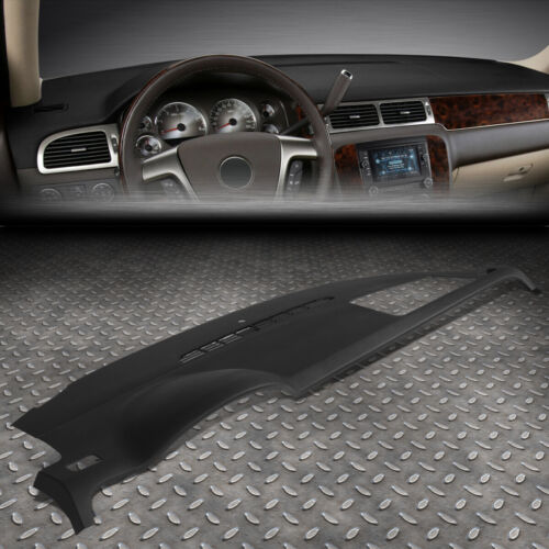 FOR 07-14 TAHOE SUBURBAN GMC YUKON DASH BOARD CAP DASHBOARD COVER OVERLAY BLACK <br/> Fits models WITHOUT Dash Speaker & Amp