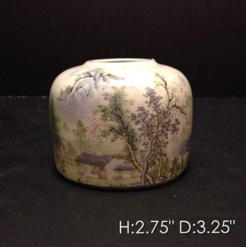 19th C. Chinese Enameled Porcelin Brush Washer.
