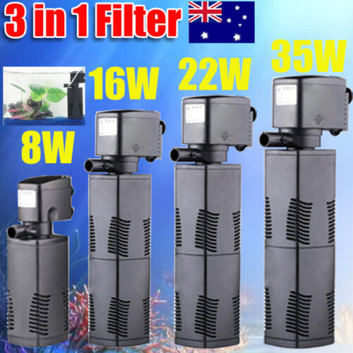 ECO 3 in 1 Fish Tank Aquarium Submersible Water Power Filter Pump 600-1600L/H