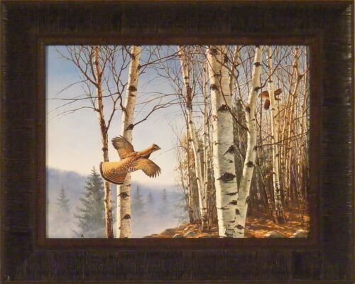 RUFFED GROUSE by David Maass 16x20 Grouse Woods Hunting FRAMED PRINT PICTURE