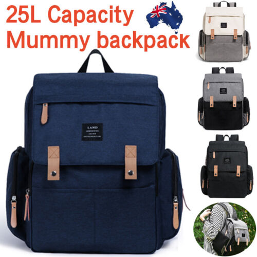 2019 GENUINE LAND Multifunctional Baby Diaper Backpack Changing Bag Nappy Mummy