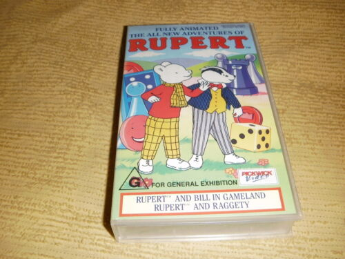The All New Adventures Of RUPERT 1991 VHS TAPE as NEW animated kids VIDEO PAL