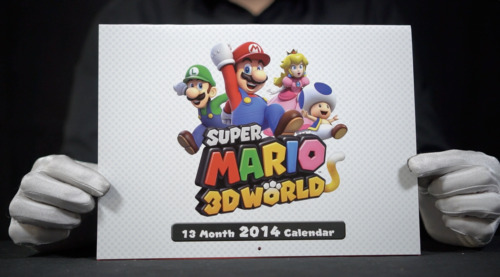 Official Super Mario 3D World 2014 Calendar - 'The Masked Man'