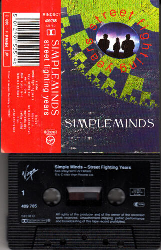 "K 7 AUDIO (TAPE)   SIMPLE MINDS  ""STREET FIGHTING YEARS"""