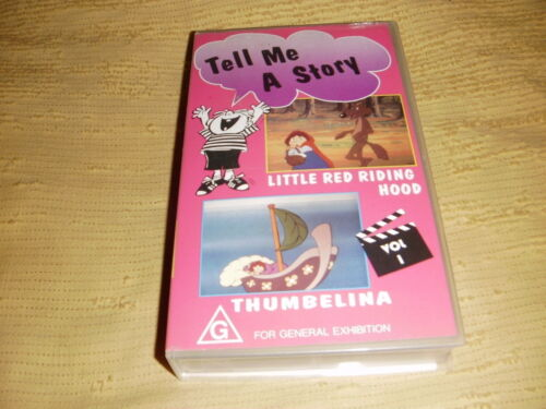 rare TELL ME A STORY Volume 1 1992 VHS TAPE animated family kids VIDEO PAL