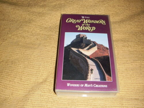 Great Wonders Of The World of Man's Creations 1993 VHS TAPE as NEW VIDEO PAL