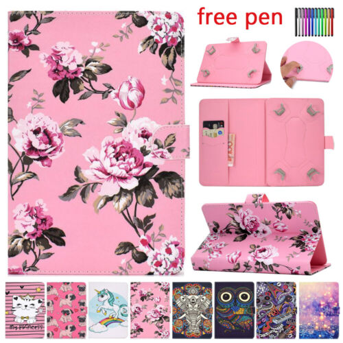 For Amazon Kindle Fire 7 HD8 8 inch Universal Tablet PU Leather Folio Case Cover