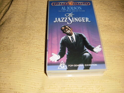 The Jazz Singer VHS TAPE classic movie drama musical VIDEO PAL