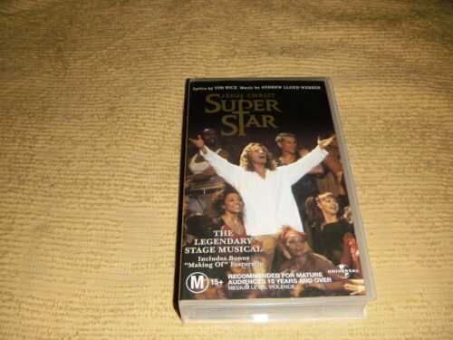 Jesus Christ Superstar VHS TAPE Andrew Lloyd Webber stage musical VIDEO PAL