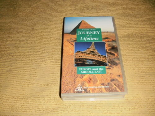Journey Of A Lifetime Europe And The Middle East 2002 VHS TAPE travel VIDEO PAL