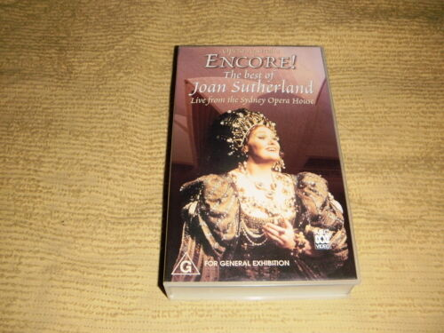 The Best Of Joan Sutherland Live From The Sydney Opera House VHS TAPE VIDEO PAL