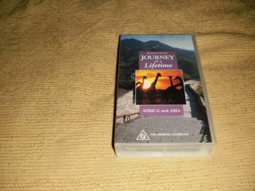 Journey Of A Lifetime Africa And Asia 2002 VHS TAPE travel VIDEO PAL