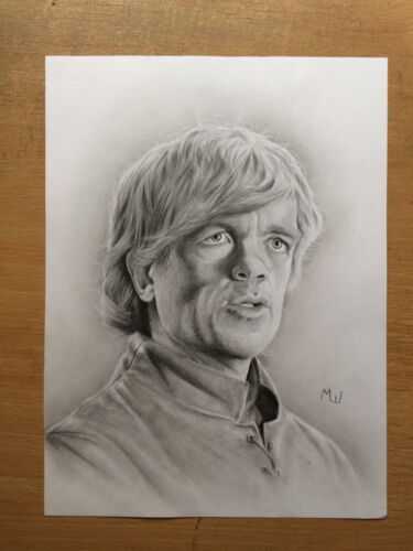 Game of Thrones Artwork - Tyrion Lannister Portrait Original Pencil Drawing Art