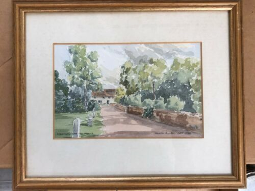 Melvyn Brinkley Watercolour - Chelsworth Village and another
