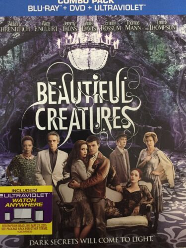 BEAUTIFUL CREATURES - BLURAY & DVD Combo Pack Slipcase 2013 AS NEW! *Region A*