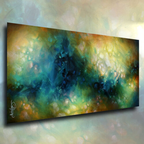 """Mix Lang Abstract Art Modern Painting """"phase 3"""" Mounted Giclee Canvas Print"""