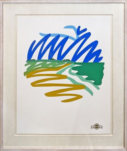 """TOM WESSELMANN """"SEASCAPE (ROUND)"""" 1993   SIGNED SCREENPRINT   OTHERS AVAILABLE"""