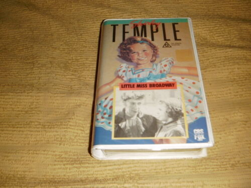 Little Miss Broadway VHS TAPE Shirley Temple black and white movie PAL VIDEO
