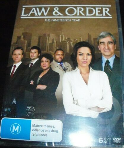 Law & And Order The Nineteenth Year Season 19 (Australia Region 4) DVD – New