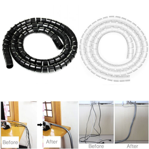 10mm Spiral Cable Tidy Wrap Management Storage Organizer 2M for TV Computer