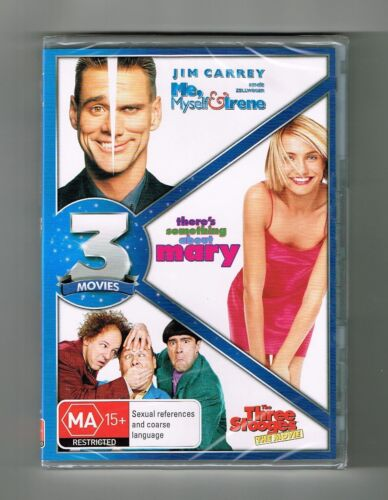Me,Myself & Irene / There's Something About Mary / Three Stooges Dvds New Sealed
