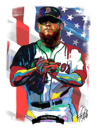 Craig Kimbrel Boston Red Sox Pitcher Baseball Print Poster Wall Art 8.5x11