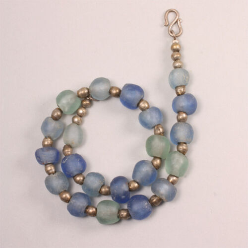 5044 Necklace Made From Recycled Glass Beads Krobo African Trade Beads