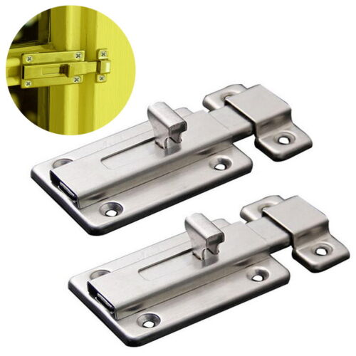 2pcs of Stainless Steel Round Knobs Handle Passage Entrance Lock Door Entry /&Key