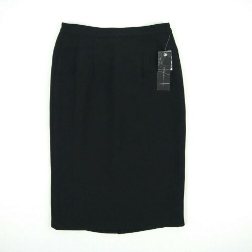 Stitches Petites - Black Lined Straight Business Dress Skirt Women's Size 8 W27