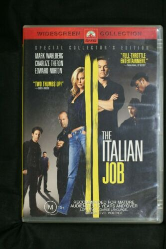 The Italian Job (DVD, 2004) Mark Wahlberg - R 4  Pre-owned (D510