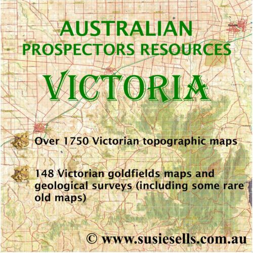 Victorian Gold Maps. Gold And Metal Detecting Locations Victoria Australia.