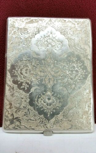 Antique Decorated silver 84 Cigarette Case, Price Reduced