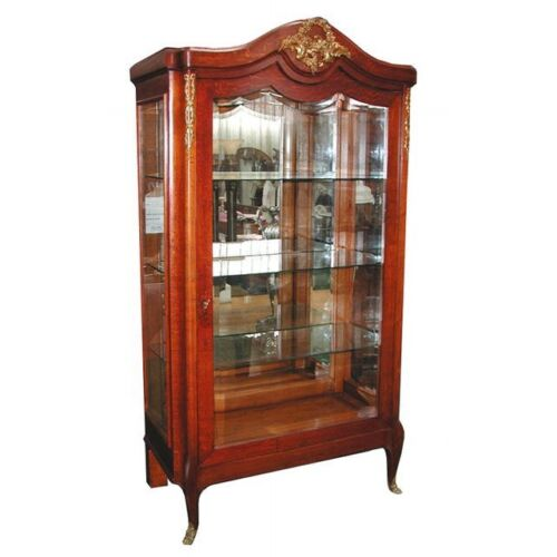 Beautiful French Oak Vitrine c. 1890 #5402