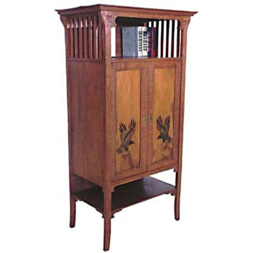 Unusual Oak Arts & Crafts Cabinet c. 1910 #119