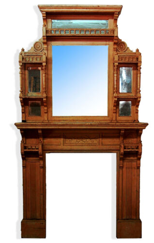 Victorian Fireplace Mantle & Over Mirror c. 1875 #7265